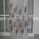 Printed 100% polyester voile sheer curtain fabric for fitting room drapery