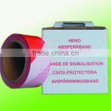 gift box packed PE red white barrier tape , Guangdong factory