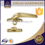 Zinc alloy casement window handle with lock