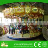 Amusement outdoor theme park children equipment merry go round electric kids ride carousel