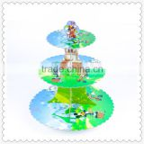 High quality cake accessory kids birthday cartoon theme cupcake carrier