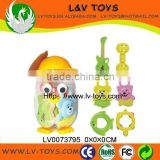 6 PCS IN BOTTLE NEW STYLE COLOURFUL BABY RATTLE TOY BABY BELL WITH EN71 CHINA MANUFACTURE LV0073795