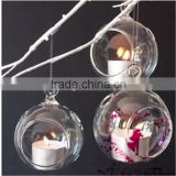 hanging glass tealight candle holder,wedding decoration glass ball/WEDDING/CANDLE HOLDER/DECORATION