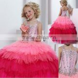 2013 new beaded ball gown custom-made pageant flower girl dress CWFaf4444 Image