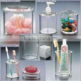 furniture/shelf/acrylic bathroom accessory set-y130966/toothpaste&tooth glass holder/soapbox