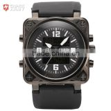 Shark Army Mens Digital LCD Quartz Rubber Band Sport Military Chronograph Watch
