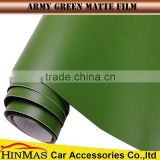 best quality removable color change matte army green car vinyl wrap