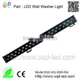 Factory supply directly architectural lighting outdoor LED wall washer DMX 9883 RGB single Color led wall wash light 24/36/52W