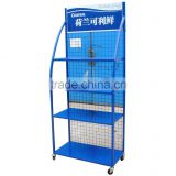 Custom retail store peg floor hook display stand/pegboard metal display rack/accessories display stand