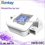 newest portable loss weight equipment 650nm cold lipo laser slimming machine for fat reduce