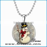 Christmas jewelry necklace snowman necklace pendant jewelry