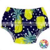 Pineapple & Dots Print Underwear Baby Woven Cotton Bloomers Cute Kids 2 Years Underwear Wholesale