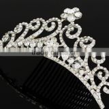 new design pageant crown and trial rhinestone pageant crowns for sale 2016 most popular pageant crowns china