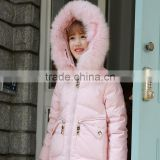 wholesales children's warm winter clothing girls long coats girls fancy down jacket