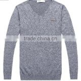 The long sleeve black/white front stripes design knitting pullover casual men knitted sweater