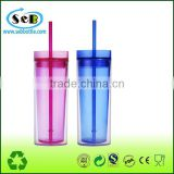 wholesale sippy cups 16oz BPA free double wall tumbler