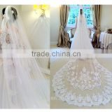 Wholesale new lace wedding veils ivory wedding veilgrance long lace bridal wedding veil long Tulle lace jeweled tulle veils