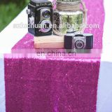 New Arrival Hot Pink Medium Price Shiny Sequins Christmas Table Runner For Wedding Decoration