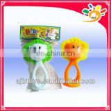 high quality baby shaking bell toy bell plastic rattle
