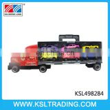 Novel design truck with 6pcs diecast car model toy for sale