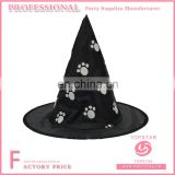 Black felt polyester conical footprint on the witch hat halloween witch hats
