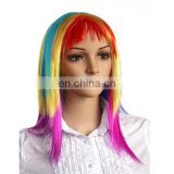 MCW-0368 Party Masquerade synthetic long women Hot straight rainbow wig