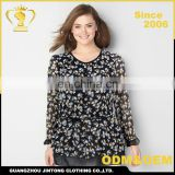 China Factory price chiffon plus size turkish woman clothes sexy blouse