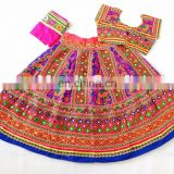 Gujarati style chaniya choli- Indian embroidered Cotton Lehenga Choli-Kutch Handmade Chaniya choli