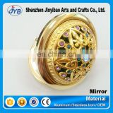 Custom wholesale folding jeweled makeup mirror