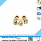 Small golden metal mushroom head rivet for bag decoration