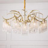 New item Crystal chandelier lighting USA style LED Decorated Chandeliers 7L for hotel hall and villa living room