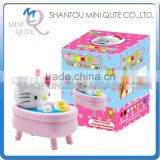 Mini Qute Bonnie kawaii girls gift Bath hello Kitty DIY cartoon model building block plasticine clay educational toy NO.BN9996-7
