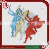 Christmas Decorating Supplies Five Colors Angel Shape Ornaments 10g Christmas Tree Hanging Decorations