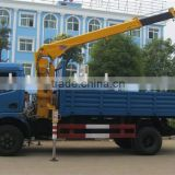 2015 hot sale low price howo euro2 2.5 Ton mini Truck Mounted Crane for sale made in china
