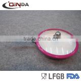 Colorful aluminum ceramic coated forged frying pan with cast stainless steel silicone handle