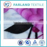 Quality hometextile flannel blanket winter coat fabric 100polyester