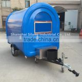 blue 7.6*5.5ft food cart beach food truck hot dog Hamburger ice cream traction cart By China's largest factory