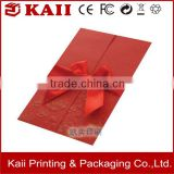 cheap wedding invitation greeting card ,red greeting card with factory price,envelope with a ribbon