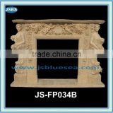 Marble fireplace surround with figure statue