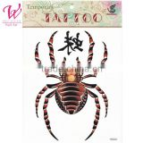 2014 latest new design new release tattoo stickers waterproof men and women of the spider temporary Tatto