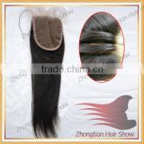 2014 Hot sale Virgin Hair lace closure with 3part baby hair 5*5 STW Peruvian hair Lace Closure