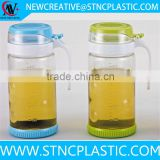 wholesale price glass cooking oil bottle with handle 650ml