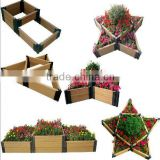 Waterproof And UV Resistant WPC Flower Planter-20 Years Warranty FSC SGS CE Certifications