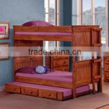 americna style Youth Bedroom Full/Full Bunk Bed with Ladder (Trundle not included) AS-B25