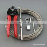 Wire railing cable end fittings / wire rope fittings