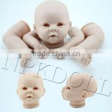 Factory price vinyl baby doll part silicon vinyl girl doll kit dolls accessories reborn kit