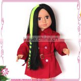 Fashion 18 inch doll accessoris colorful doll wig pieces