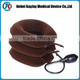 china supplier comfortable amd adjustable three layer air inflatable cervical neck traction
