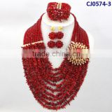 CJ0547-3 2014 New coming Fashion design nice crystal Beads set ,nice Jewelry set with Necklace and Earing with Bracelet