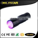 Onlystar GS-8085 395nm-410nm blacklight pet urine detector 12 led uv flashlight                                                                         Quality Choice